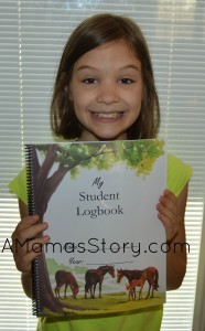 She was delighted to get her log book in the mail.