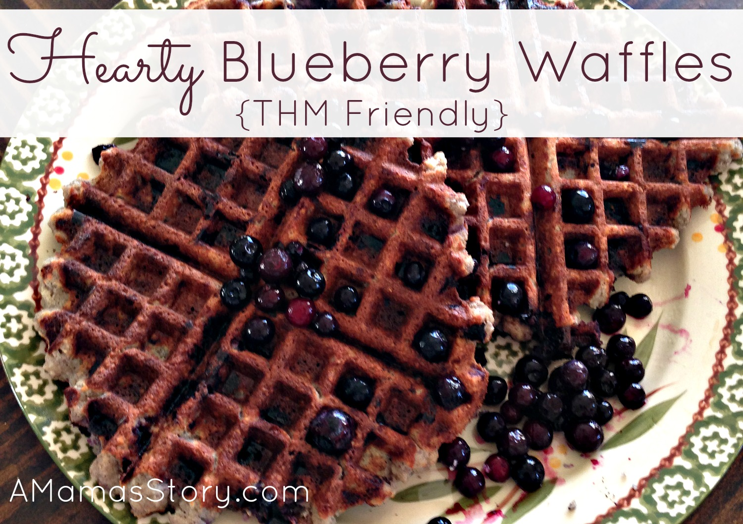 THM Recipes Hearty Blueberry Waffles