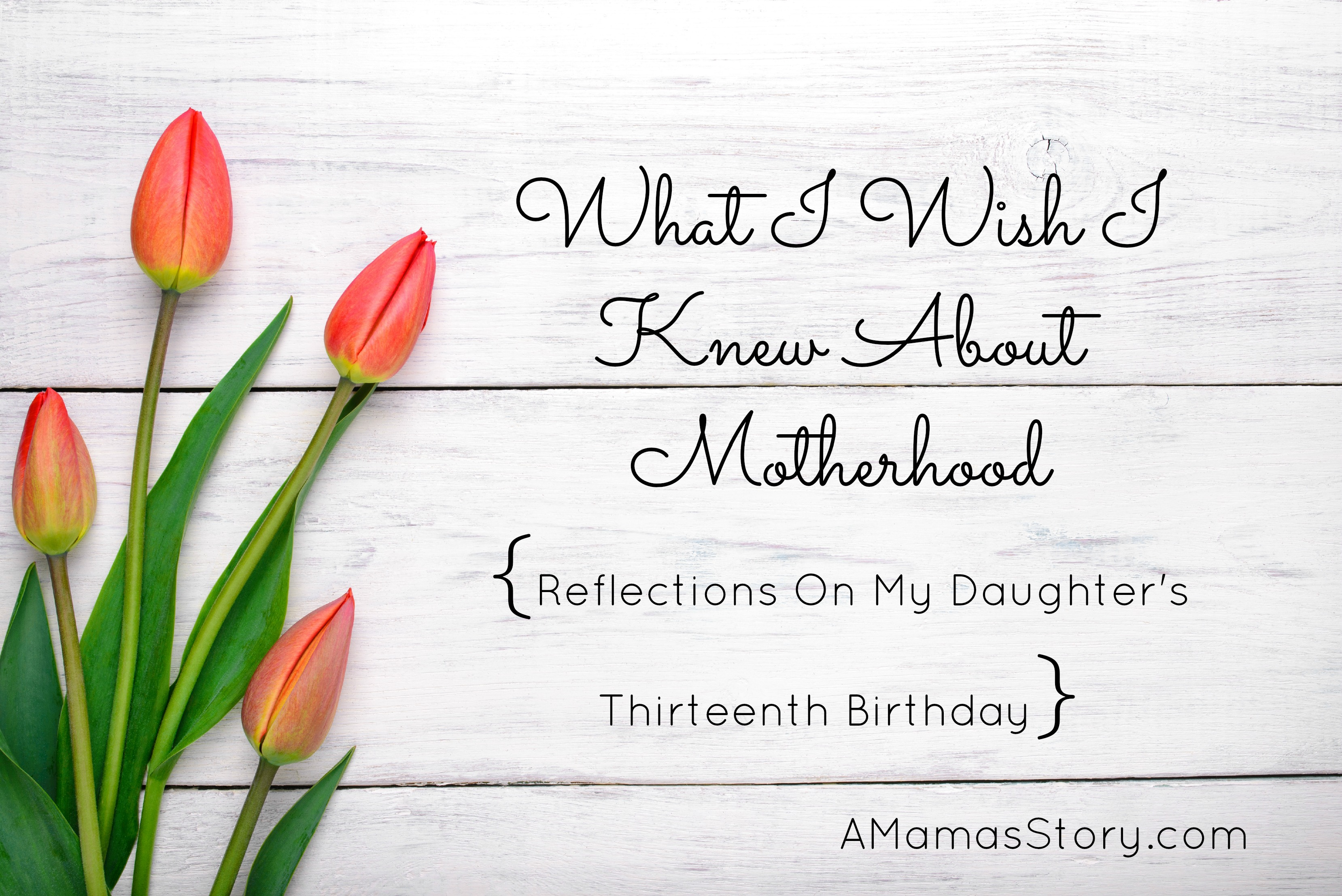 What I Wish I Knew About Motherhood {Reflections On My Daughter's Thirteenth Birthday}