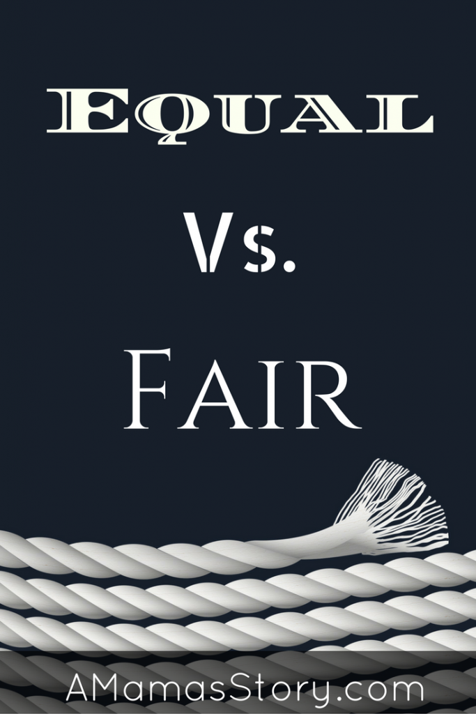 equal vs. fair