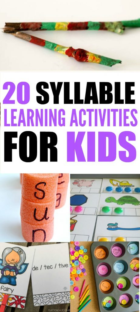 syllable learning activities