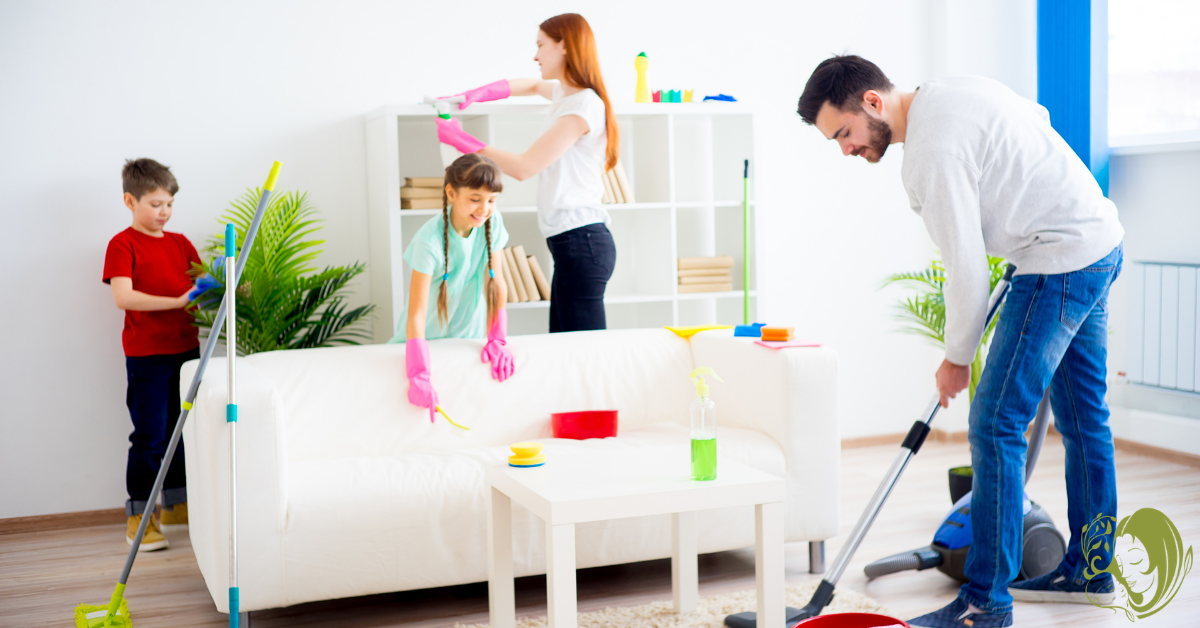 Large-Family Spring Cleaning Tips