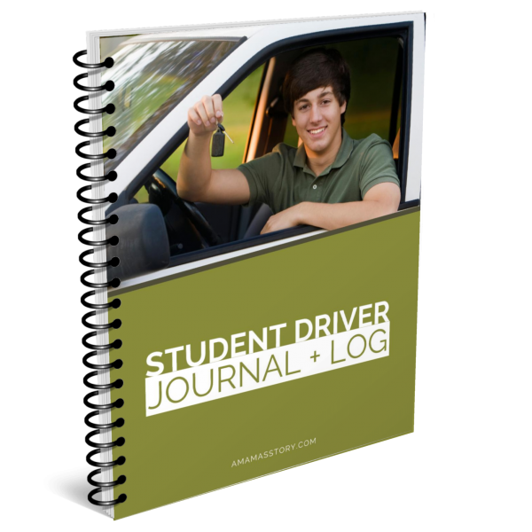 Student driver journal and log.