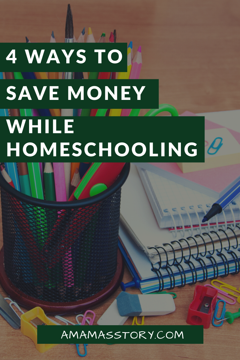 Four ways to save money while homeschooling.